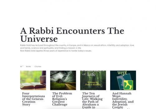 A Rabbi Encounters The Universe